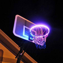 LED Basketball Hoop Lights Solar Powered Rim LED Light Swish for Playing at Night Outdoors Kids Adults basketball Training Games
