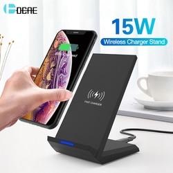 DCAE szybka ładowarka bezprzewodowa ładowarka qi 15W 10W dla iPhone 11 Pro Max XS XR X 8 stojak USB C szybka ładowarka do samsunga S10 S9 S8 S7|Ładowarki bezprzewodowe|Telefony komórkowe i telekomunikacja -