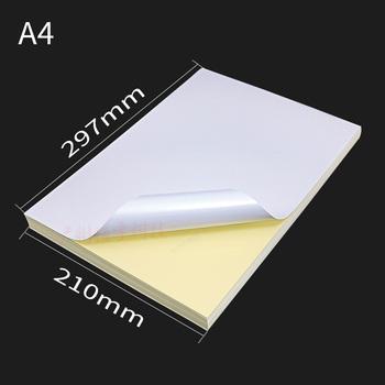 100 a4 papier biały atrament jet drukarka laserowa papier do kopiowania klej pusta etykieta arkusz karton papier półprzezroczysty papier z nadrukiem tanie i dobre opinie CN (pochodzenie) 1-500 arkuszy other Photo paper