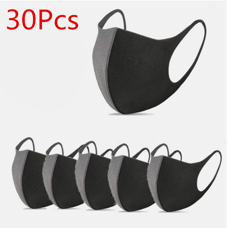 30Pc Cotton Mouth Mask Anti Haze Dust Washable Reusable Unisex Dustproof Mouth-muffle Winter Warm Antiviru Mask Face Mouth Masks