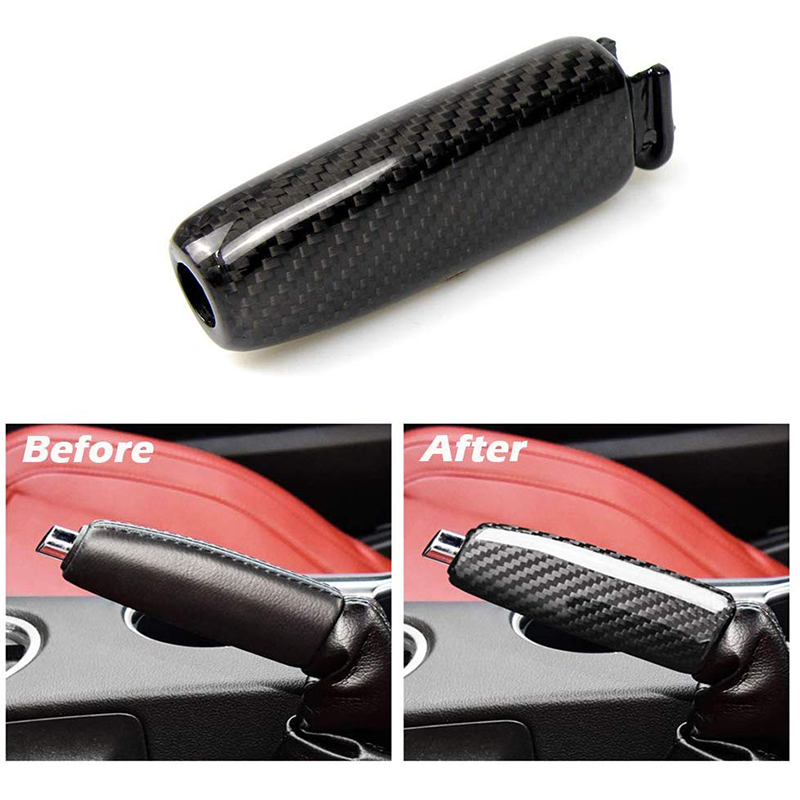 Car Replace Handbrake Grips Cover For Ford Mustang 2015-2019 Accessories Interior Trim Airspeed Carbon Fiber