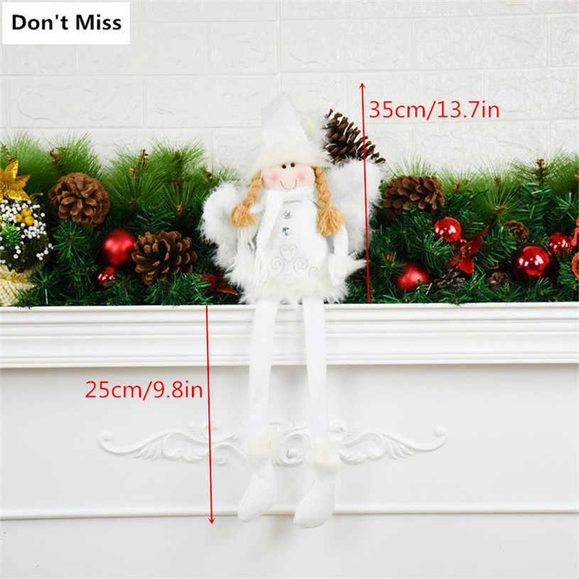 Janela de exibição de Mesa Toy Decor Decorações De Natal para Os Amantes Crianças Sentado Boneca de Natal Presente de Aniversário Meninas Com Asas de Anjo