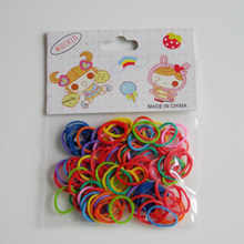 100pcs Solid Daily Styling High Elastic Practical Easy Apply Colorful Home Mini Hair Decoration Pet Rubber Band(China)