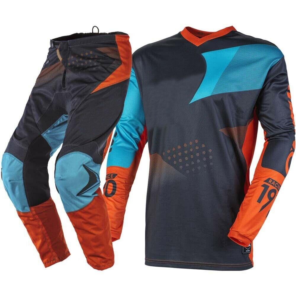 2020 MX Racing Jersey Pants Combo Spring Autumn Element Factor Orange Motocross Dirt Bike Racing Gear
