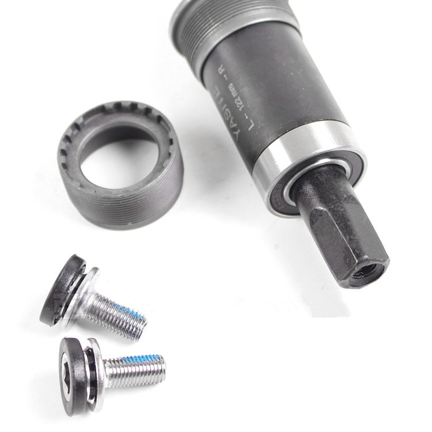MTB Mountain Road Bicycle Bottom Bracket BB68 Square Hole Crank 107/113/118/120/122/124/127mm With Waterproof Screws