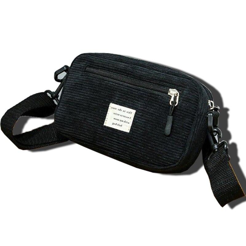 2019 Waist Bag Women Corduroy Casual Purse Shoulder Bag Waist Bag Solid Color Crossbody Shoulder Bag Funny Pack For Women  G113