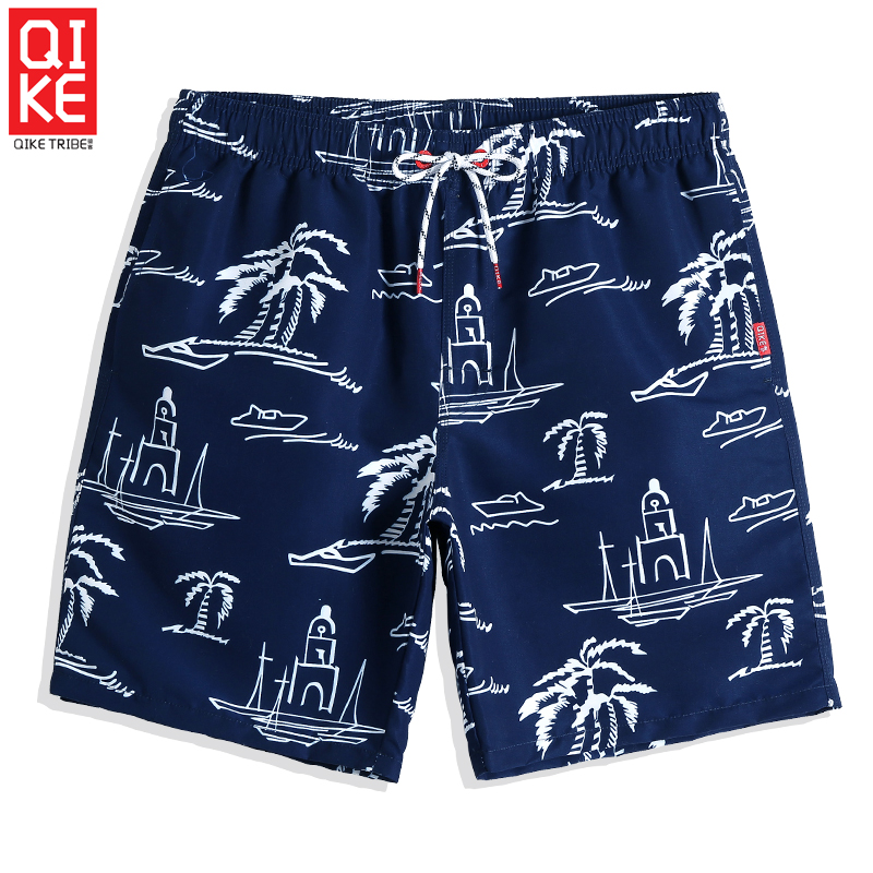 Men's Navy   Board     shorts   Summer Sexy Swimming trunks Quick dry surfing praia   Board     shorts   briefs printed mesh