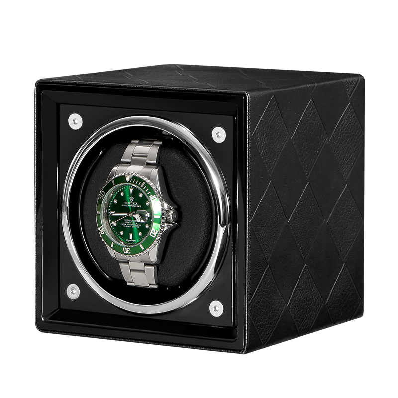 Automatic Watch Winder Box Accessories Display Mechanical Single Rotating  watch uhrenbeweger for men Automatic watch