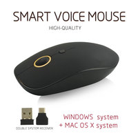 Voice Control Mouse Wireless Rechargeable Mice Input Search Translation Type-C FKU66