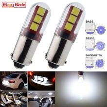 2 pces led ba9s baxter 9s bay9s lâmpadas de carro t4w t11 h6w h21w interior dome mapa lado cunha lâmpada backup automático reverso luz branca 12v dc