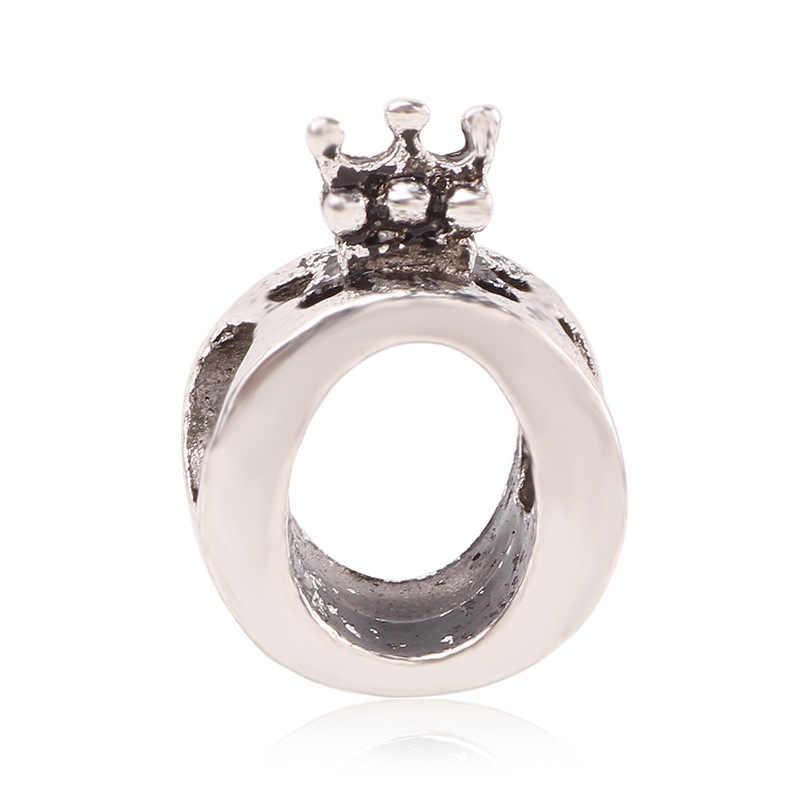 Couqcy autentyczna zawieszka srebrna pasuje Pandora różowe złote koraliki bransoletki korona O kryształowy wisiorek urok DIY biżuteria na prezent