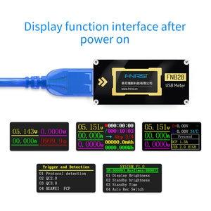 Image 3 - FNB28 Hiện Tại Và Đồng Hồ Đo Điện Áp USB Bút Thử QC2.0/QC3.0/FCP/SCP/AFC Sạc Nhanh Giao Thức Kích Hoạt công Suất Thử Nghiệm