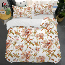 Miracille Flower Bedding Set Print Bed 3pcs/set Duvet Cover Set Pastoral Bed Sheet Side Duvet Cover Bedclothes panda bedding duvet cover set digital print 3pcs