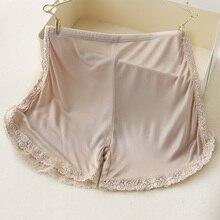 Safety shorts pants women panties Natural Real silk under skirt boxer lingerie underwear ladies femme