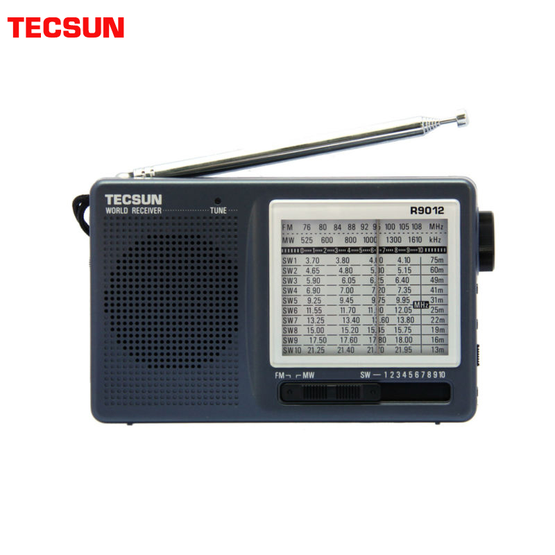 TECSUN Pocket-Style Radio-Receiver 12-Bands Portable High-Sensitivity AM/SW