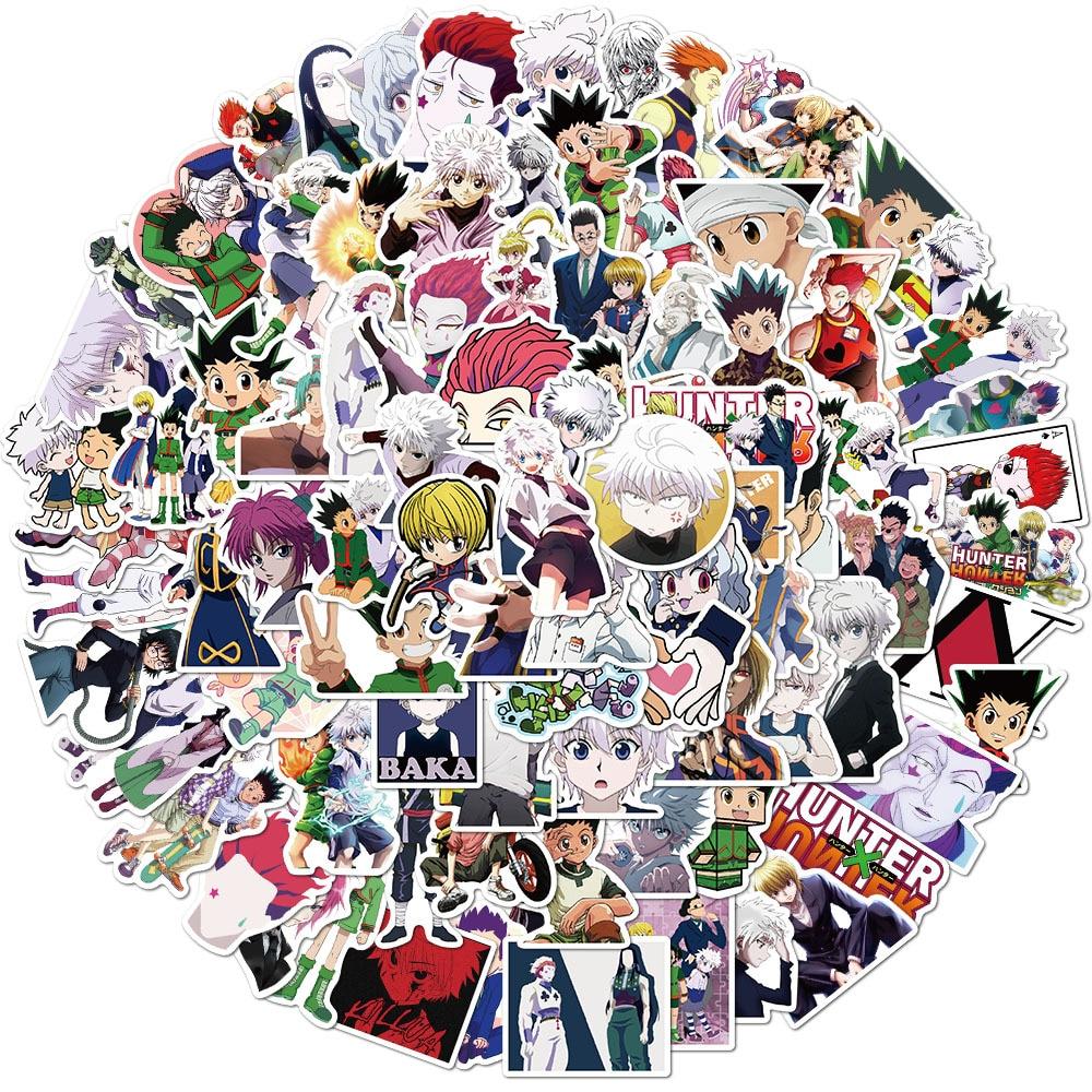 100 pçs hunterxhunter quadrinhos anime adesivos gon freecss killua zoldyck diy scrapbooking dary planejador diário papelaria adesivo