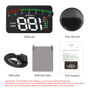 Image 5 - A100 3.5 A900 HUD Head Up Display Car styling Hud Display Overspeed Warning Windshield Projector Alarm System Universal Auto