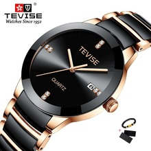 TEVISE Gold Ladies Bracelet Watch Quartz Women