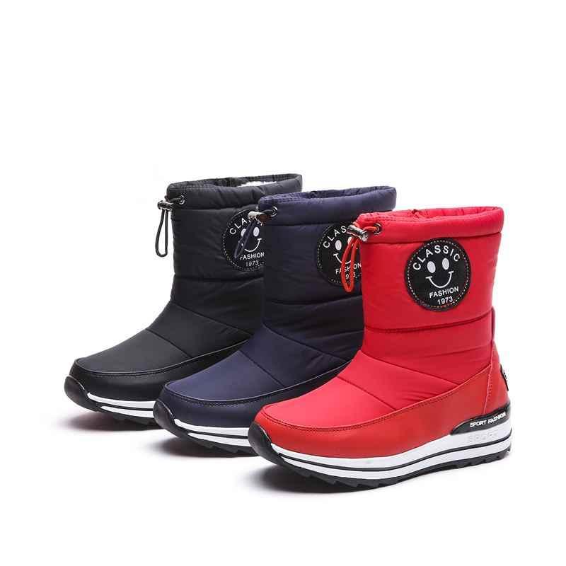 MORAZORA artı boyutu 34-43 kar botları kadın ayakkabı fermuar sıcak tutmak kalın kürk kışlık botlar moda yarım çizmeler kadın
