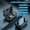 F9 наушники-вкладыши TWS с Беспроводной наушники Bluetooth 5,1 HD зеркало Экран светодиодный Дисплей музыкальные наушники спортивные наушники Hi-Fi ст...