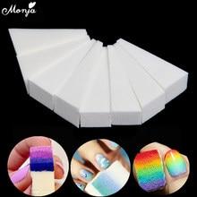 Monja 8 Uds triángulo de Gel para decoración de uñas gradiente de transferencia de Color esponja de estampado para manicura