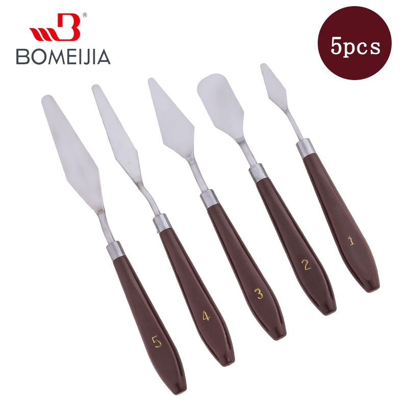 5Pcs Painting Knife Set Painting Mixing Scraper Artist Oil Painting Palette Knife Spatula Painting Art Drawing