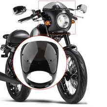 7 in ch Motorcycle Universal Retro Headlight Fairing Windscreen Ornamental Mouldings Motorcycle Accessories for Cafe Racer cafe racer seat mash retro cushion motorcycle saddle 64cm for yamaha xj honda cb suzuki gs