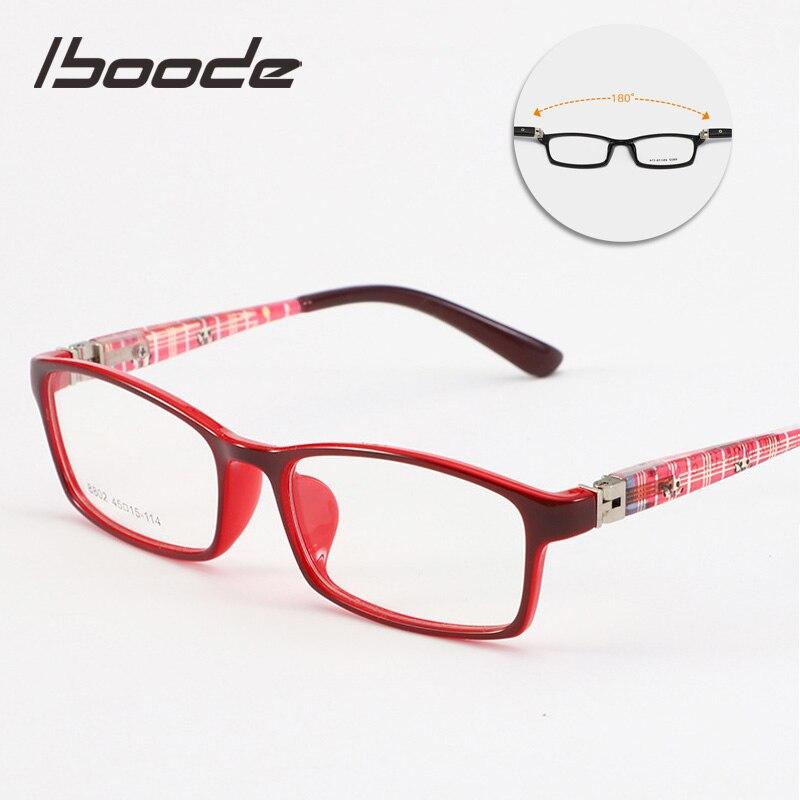 Iboode Optical Glasses Frames Kids Boys Girls Myopia Glasses Frame With Clear Lens Spectacle For Student Children Eyeglasses