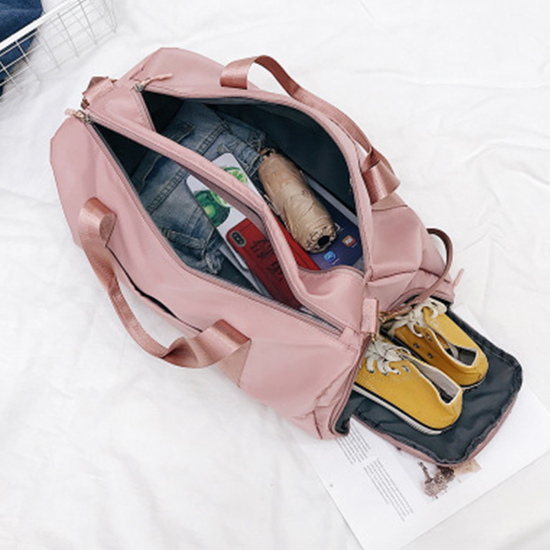 Fashion Dry Wet Separated Waterproof Outdoor Travel Handbag For Women Training Adjustable Strap Fitness Nylon Yoga Gym Bag New