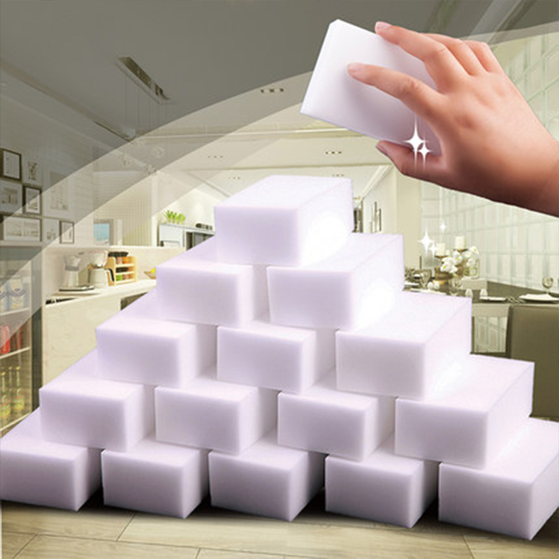 100pcs Magic Sponge Cleaner Eraser Melamine Sponge Cleaner Eraser 100*62*20mm Grey Esponja