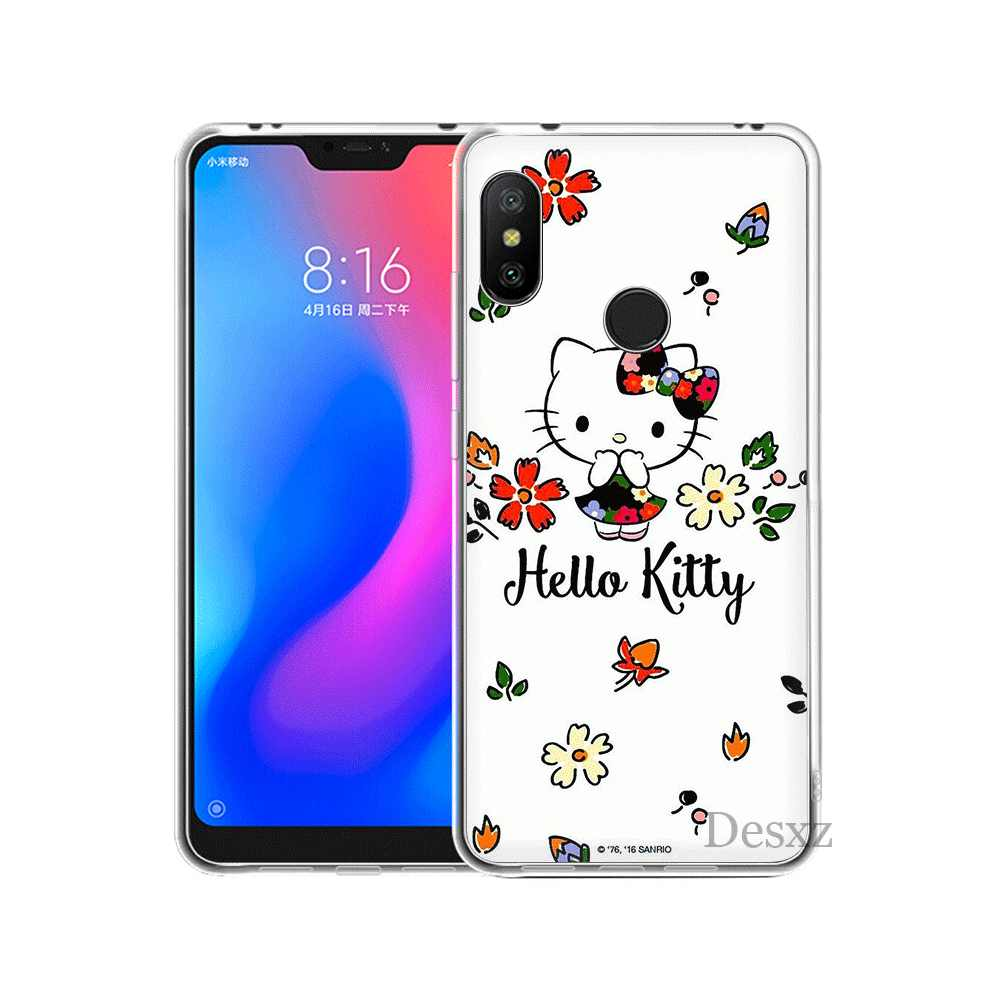 Mobile étui de téléphone pour xiaomi Redmi Note 6 7 Pro 5A 4 4X3 5 Couverture Rigide Hello Kitty