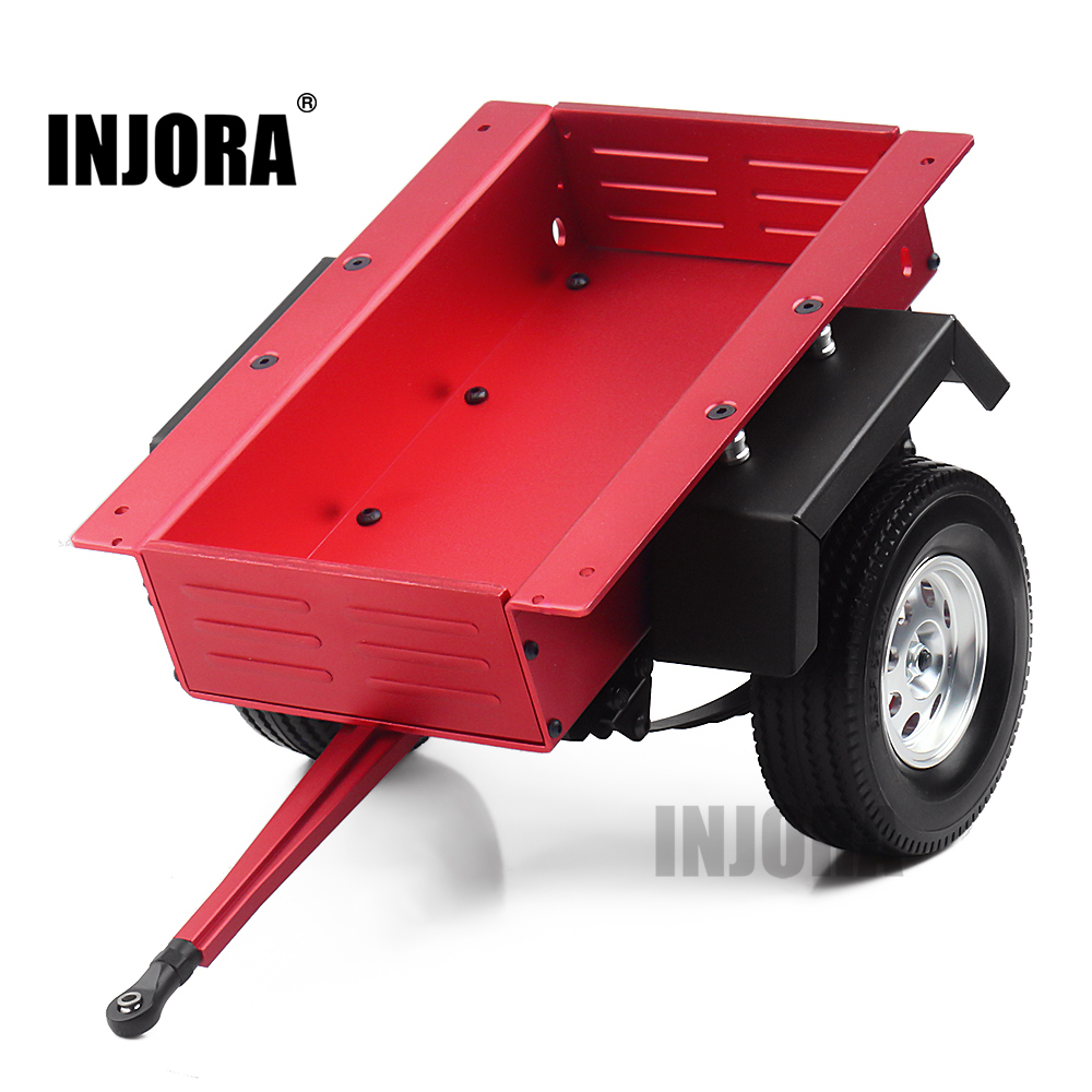INJORA Metal Leaf Spring Trailer Car For 1/10 Scale RC Crawler Car Axial SCX10 90046 Traxxas TRX4 TRX6 Tamiya Redcat