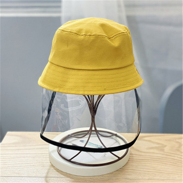 Kids Bucket Hat with Face Shield Children Face Protective Cover Sun Cap Hat Summer Face Protective Cover Sun Cap Face Protective