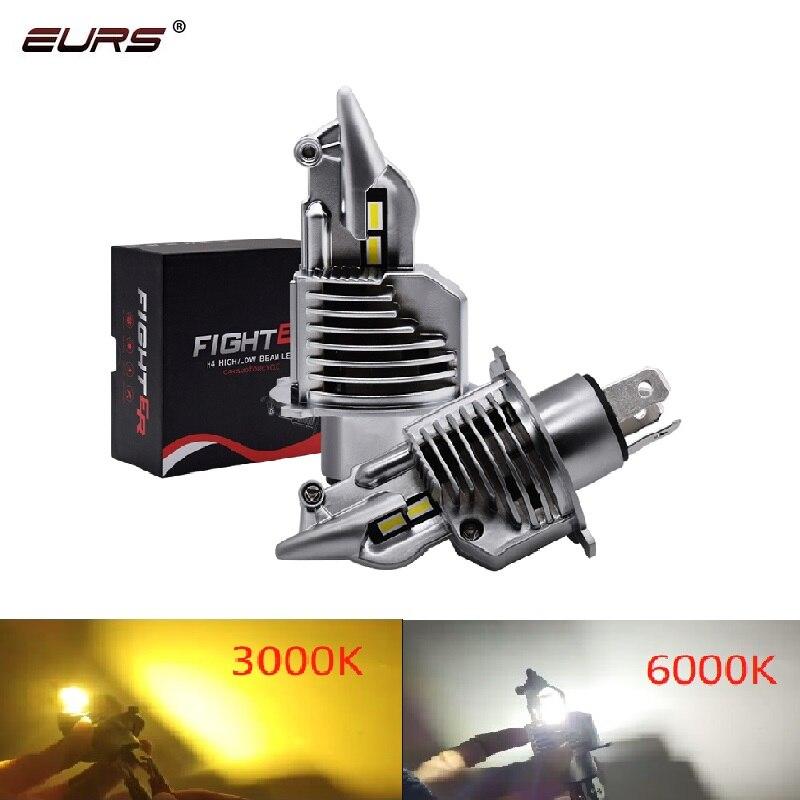 Eurs Fighter H4 светодиодный светильник для головы автомобиля 3000K 6000K Canbus светильник 12V 24V светодиодный H4 автомобильный светильник для головы лампы 72W 8000LM автомобильный головной светильник| |   | АлиЭкспресс