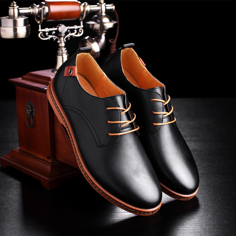 Shoes Men Black/brown Plus Size Men Sneakers 2019 PU Leather Men 39 S Shoes Lace Up Loafers EU38 47-in Men's Casual Shoes from Shoes    3