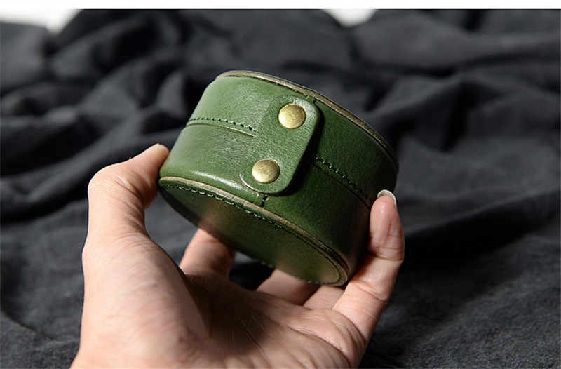 PNDME простой из натуральной кожи для мужчин и женщин круглый маленький кошелек для монет повседневный дизайн Натуральная Воловья кожа ювелирное украшение в виде наушников сумка для хранения