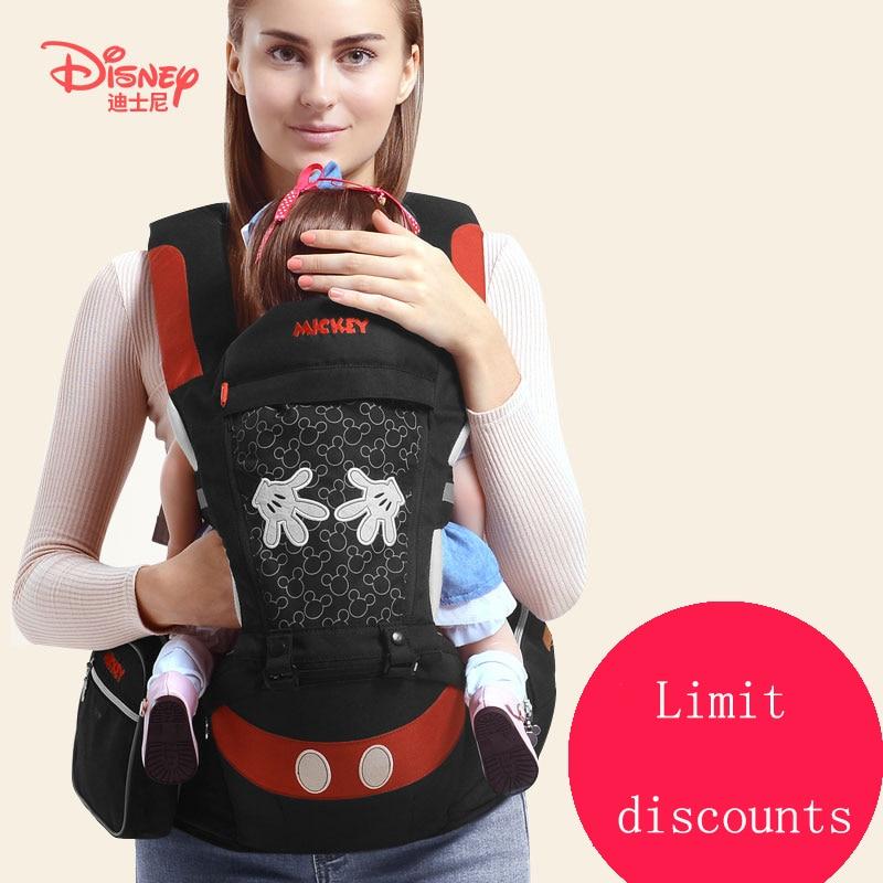 Disney Ergonomic Baby Carrier Backpack Infant Sling Toddler Waist Wrap Carrier Baby Holder Kangaroo Hipsit Minnie Cartoon Design