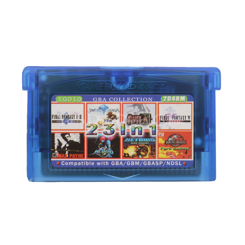 For Nintendo GBA Video Game Cartridge Console Card Collection English Language EG010 23 In 1