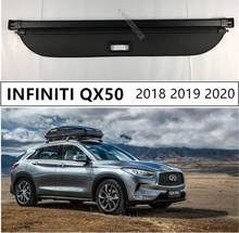Rear Trunk Cargo Cover Security Shield For INFINITI QX50 2018 2019 2020 High Qualit Auto Accessories Black Beige(China)