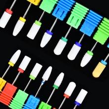 YWK 1PC Manicure Ceramic Nail Drill Bits Milling Cutter Nail Files Buffers Equipment