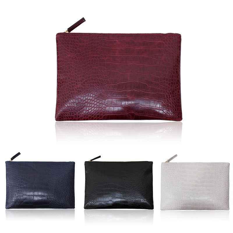 Moda Feminina Mão Portátil Carry PU Bag Bolsa Durável Casual Pequenos Sacos de Maquiagem Bolsas