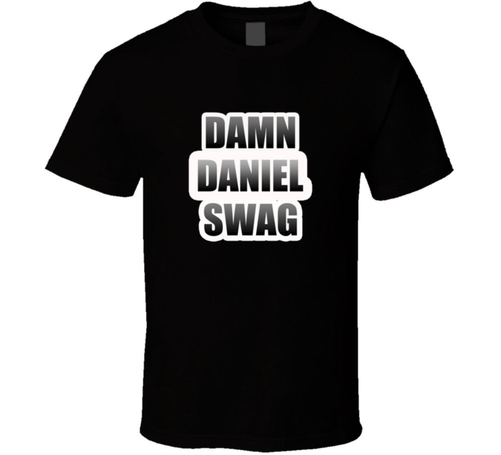 Damn Daniel <font><b>Viral</b></font> Swag off the Wall T Shirt Cool Casual pride t shirt men Unisex Fashion tshirt free shipping funny tops image