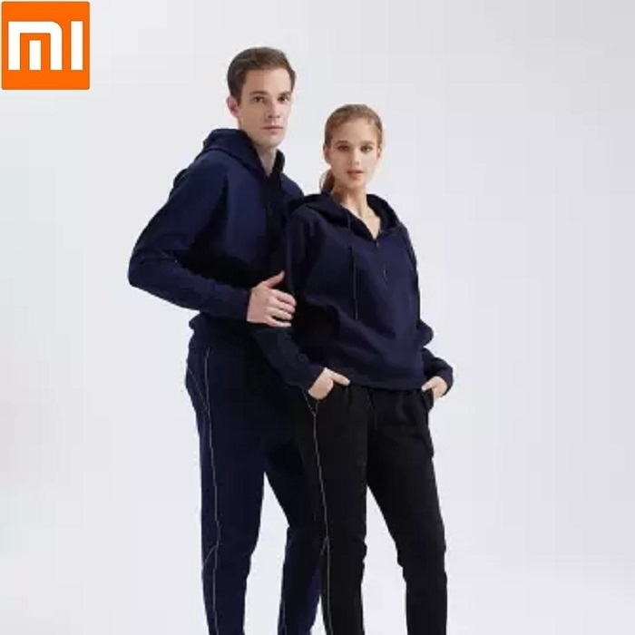 Fashion Men Women Plus Velvet Leisure Sweatshirt Pants Soft Warm Fitness Running Sportswear Trousers Long Sleeved Suit