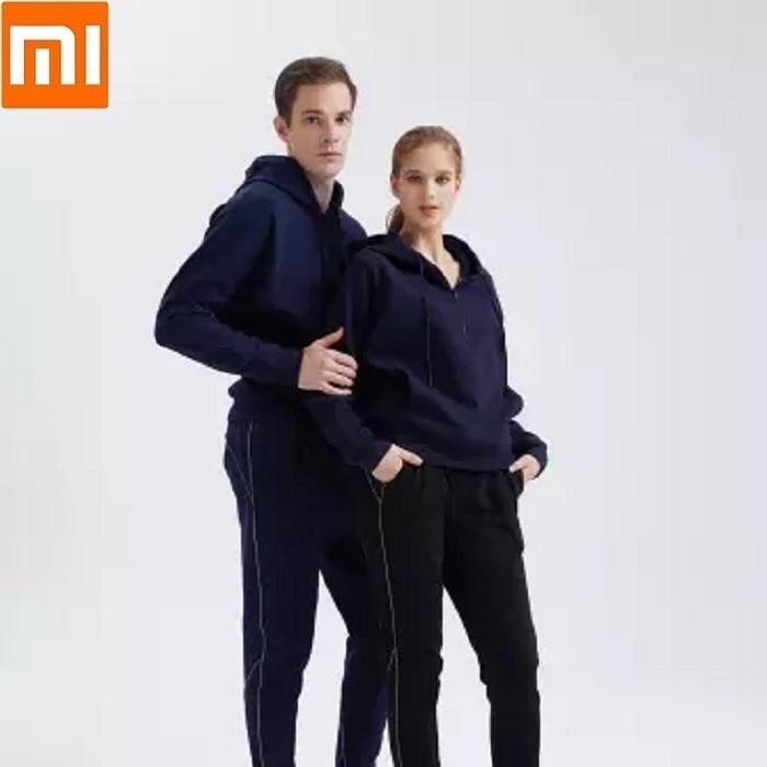 Fashion Men Women Plus Velvet Leisure Sweatshirt Pants Soft Warm Fitness Running Sportswear Trousers Long Sleeved Suit