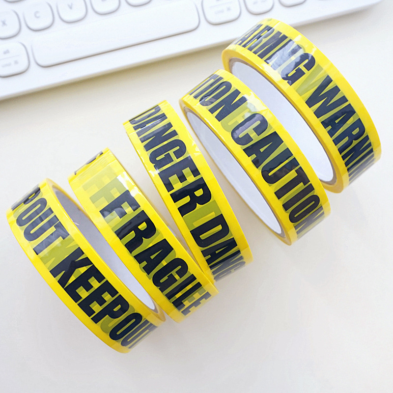 Image 4 - 1/Roll DIY Sticker 24mm*25m Opp Yellow Warning Tapes Caution Barrier Safety Reminder For Home Store Warehouse Factory School-in Warning Tape from Security & Protection