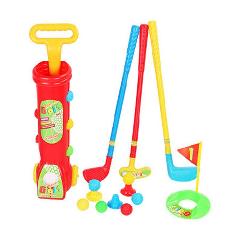 OOTDTY enfants ensemble de Golf en plastique Mini Putter Golf Club jouet enfant en plein air drôle jeu de sport H3CD