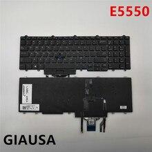 Б/у(95% Новинка) для Dell Latitude E5550 E5570 серии США Клавиатура ноутбука черная с подсветкой
