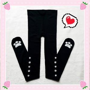 Image 5 - Cat Claw calze sopra il ginocchio Lolita da donna stampa calze alte calze lunghe Cosplay buona qualità Anime Kawaii carino dolce