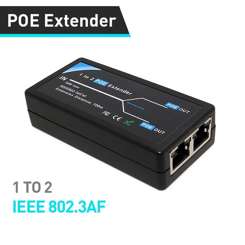 1 2Port 10/100 Мбит/с POE удлинитель с IEEE 802.3af Стандартный Вход/Выход для IP Камера продлить 100 метров для POE диапазон|Коробки передач и кабели|   | АлиЭкспресс