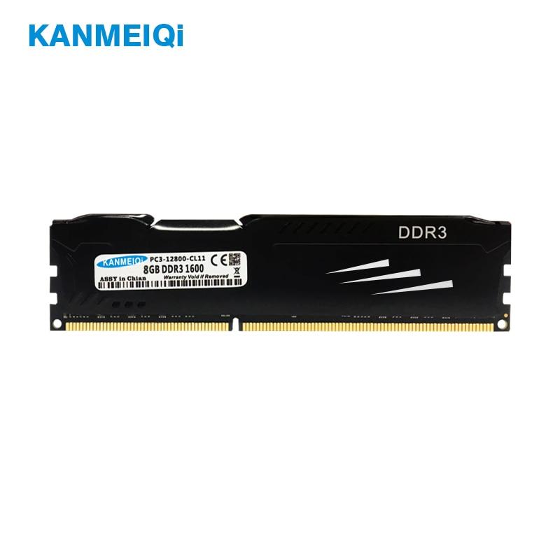 KANMEIQi DDR3 8GB 1866 1600 Desktop Memória ram com Dissipador de Calor 4GB pc3 dimm 1333MHz 1.5V CL11